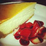 What would a trip to NYC be without NY cheesecake w/ strawberries?
