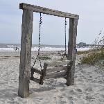 Swing on beach within walking distance from Inn