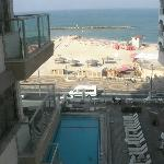 View of the pool / beach from the room