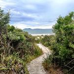 walking to Middleton beach