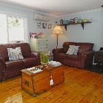 Cosy wood heated lounge room