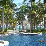 View from the main pool area to the beach