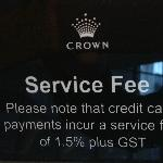 Extra Charge when paying by credit card !