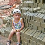 the brick factory - this guy was a cutie that followed us around