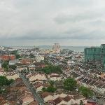View towards Malacca Raya (Novotel is the u/c building) and the Straits of Malacca