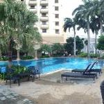 Panoramic view of the swimming pool