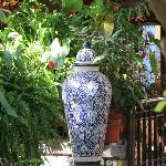 Mexican art in the garden