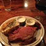"Middle-sized ""Cricklewood Cut"" Prime rib... 1"" thick! Tender and done perfectly."