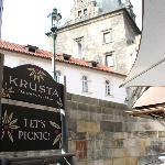 Krusta beside the Charles Bridge