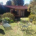 Garden area for morning coffee