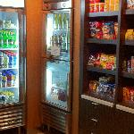 self service mini bar area next to the lobby