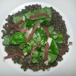 La salade de lentilles du Puy