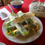 mmmmmm fresh pancake spring rolls