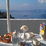 Breakfast with a view (we bought the Frosties from the local shop)