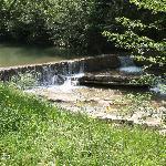 La rivière le Salz, sur la promenade de Rennes les Bains