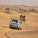 Our Mercedes G-Wagon and Land Rover in action