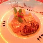 ravioles aux truffes et foie gras poêlé