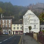 The Severn Arms on a misty morning