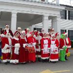 Santa group in front of the Litchfield Inn