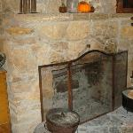 Hearth were food was warmed or cooked