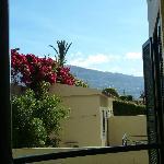 uitzicht vanaf het balkon