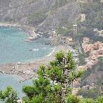 Monterosso al Mare below hotel & restaurant