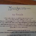 The dessert menu - November 2012