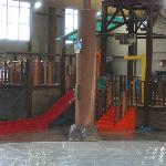indoor water park area