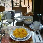 Breakfast...loved the mango..