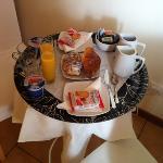 vassoio della colazione in camera :-) spettacolo