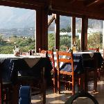 Inside the Oasis Tavern near Frangokastello, Crete, Greece.