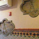 wall plaques in one of the rooms