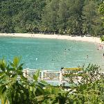 view from a bridge heading to Perhentian Island Resort beach (large beach)