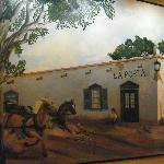 painting of La Posta in the olde days