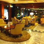 Quiet hotel lobby