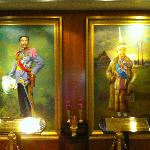 Main lobby's royal portraits