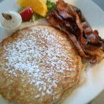 Whole Wheat Pancake with Bacon - Half Order