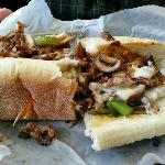 Philly Cheesesteak at Three Chopt in Hendersonville, NC