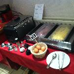 Hot buffet breakfast items