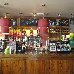 Typical pub bar setup with an array of beers & ciders