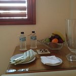 Complementary fruit basket & water