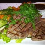 One of our delicious imported steaks