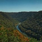 New River Gorge left of the bridge