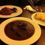 goulash, pork and side dish- Yummy!!