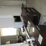 scrivania e tv..