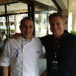 Chef Regis Molina & the author