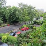 View of leafy Lansdowne Road from our room