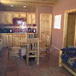 kitchen area in 2 bedroom cabin
