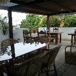 terraza de desayuno y comidas