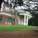 View of the home of James and Dolley Madison